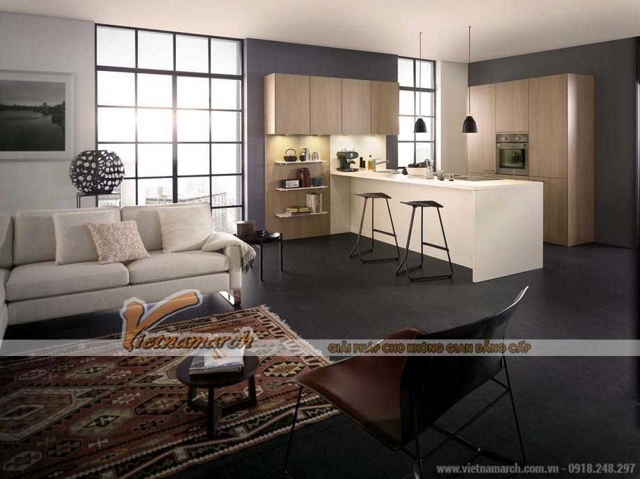 Thiết kế hệ cửa sổ lớn trong phòng bếp