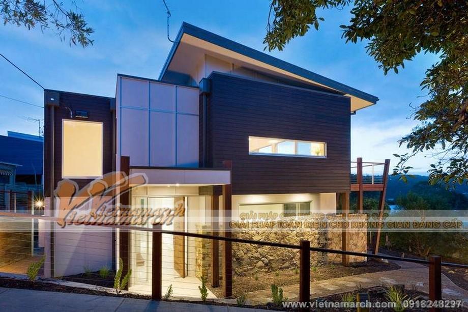 Thiết kế biệt thự cho anh Giang theo phong cách hiện đại hóa, phá cách