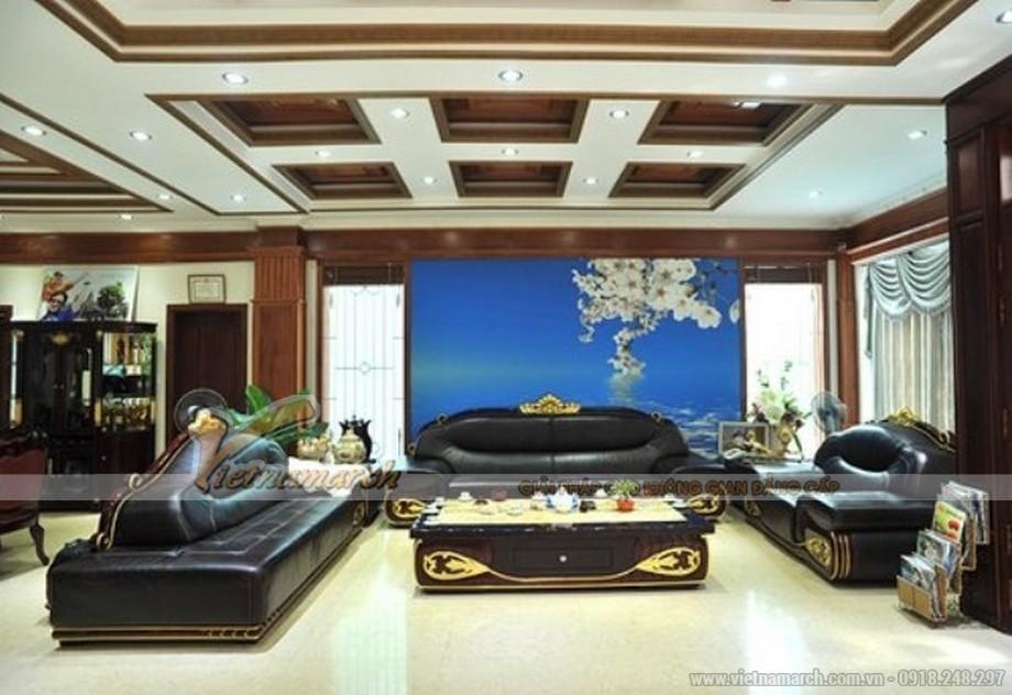 Thiết kế nội thất hoàng gia trong phòng khách tầng 1