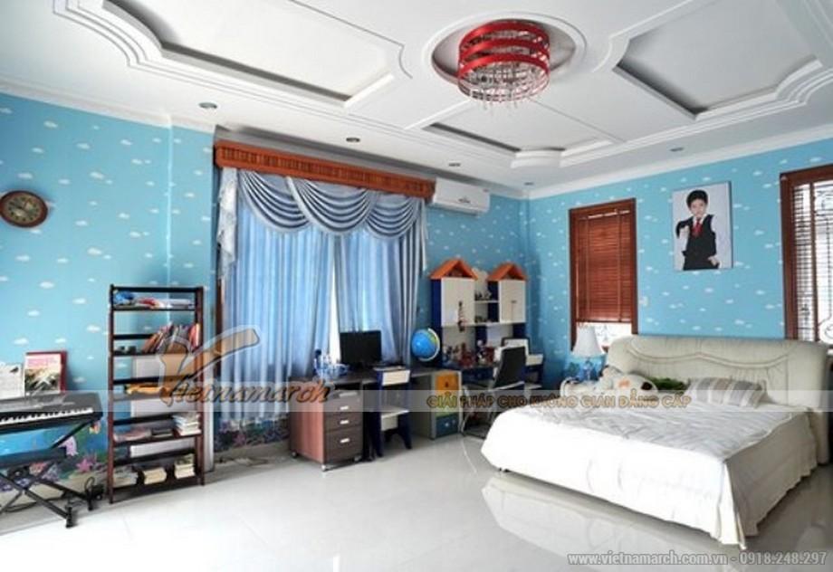 Thiết kế nội thất mang xu hướng truyền thống trong phòng ngủ con trai