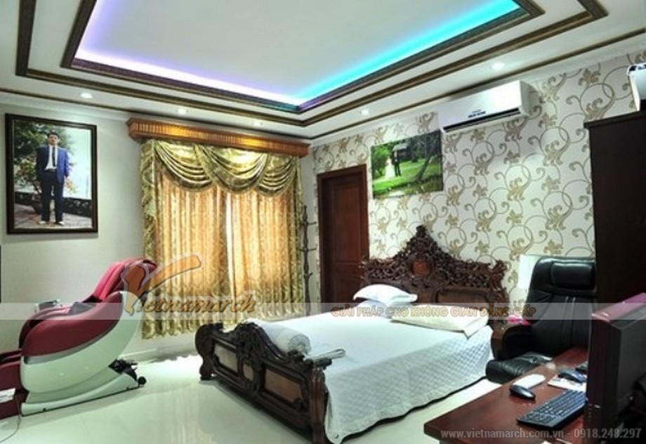 Phòng ngủ giản dị nhưng không kém phần hiện đại