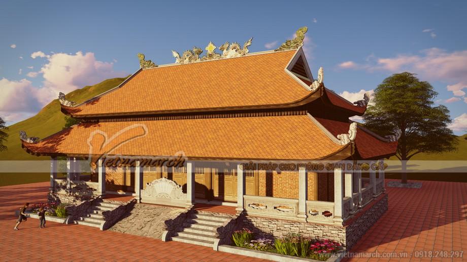 Thiết kế kiến trúc chùa Sùng Ngọc hài hòa phong thủy