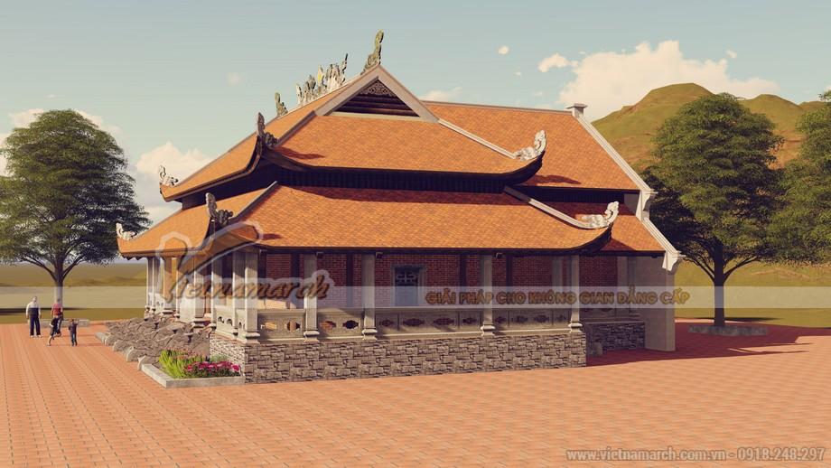 Không gian chùa Sùng Ngọc thoáng mát, thanh tịnh