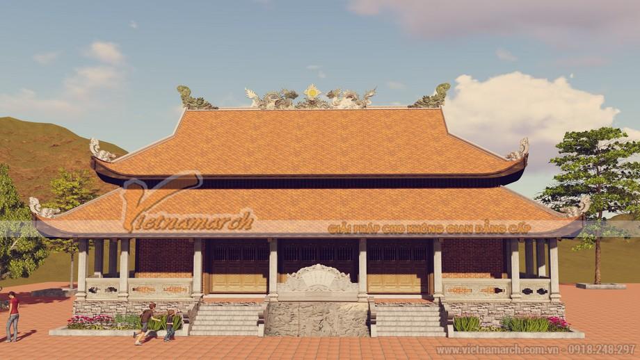 Thiết kế kiến trúc phần mái mang giá trị thẩm mỹ và tâm linh cao quý
