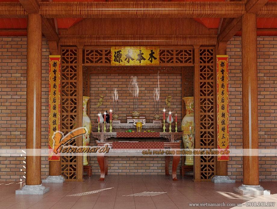 Thiết kế nội thất bên trong nhà thờ họ của gia đình anh Tiến
