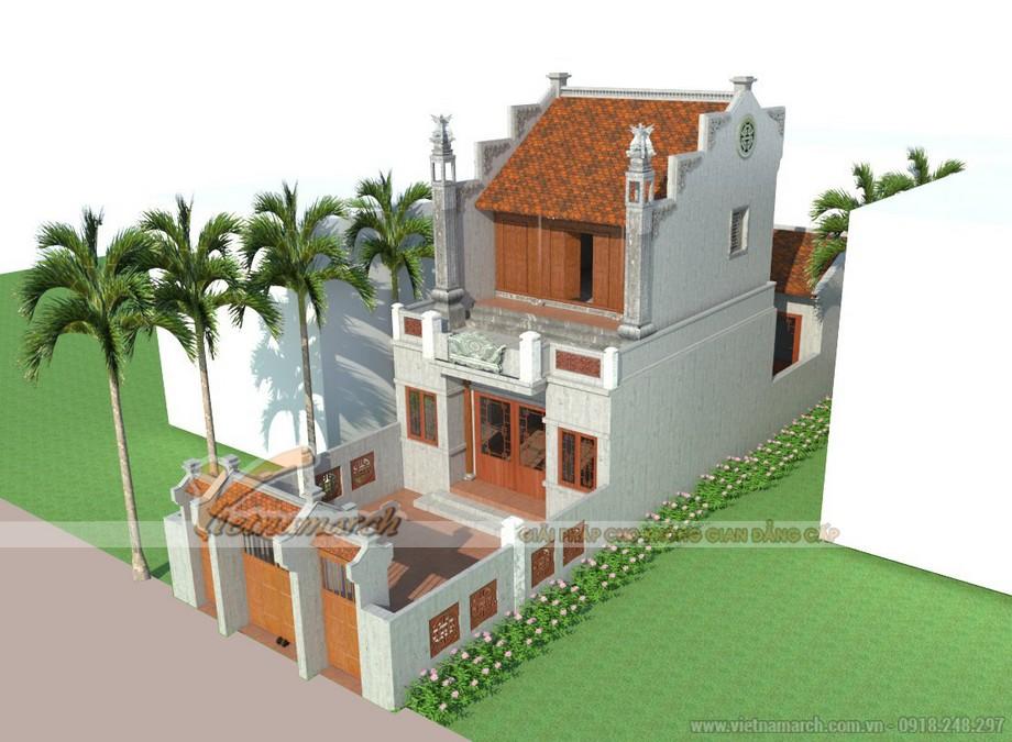 Thiết kế nhà thờ họ 2 tầng tại Thanh Hóa