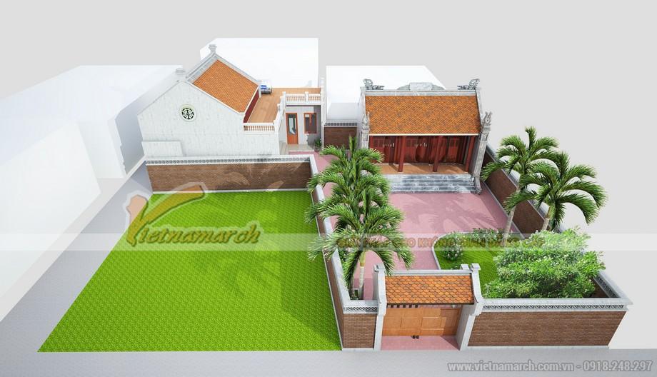 Tổng quan thiết kế nhà thờ họ của gia đình anh Roãn ở Nam Định