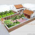 Thiết kế nhà thờ tổ kết hợp nhà để ở cho nhà Anh Doãn tại Nam Định