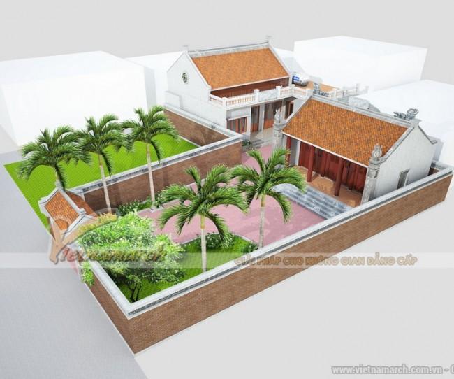 Thiết kế nhà thờ họ kết hợp nhà để ở cho nhà Anh Doãn tại Nam Định