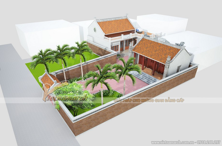 Thiết kế nhà thờ họ của gia đình anh Roãn hợp phong thủy