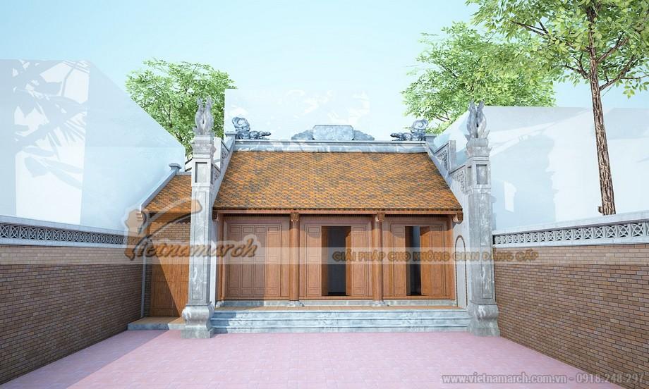 Thiết kế nhà thờ họ truyền thống cho gia đình chú Tiến - Hà Đông