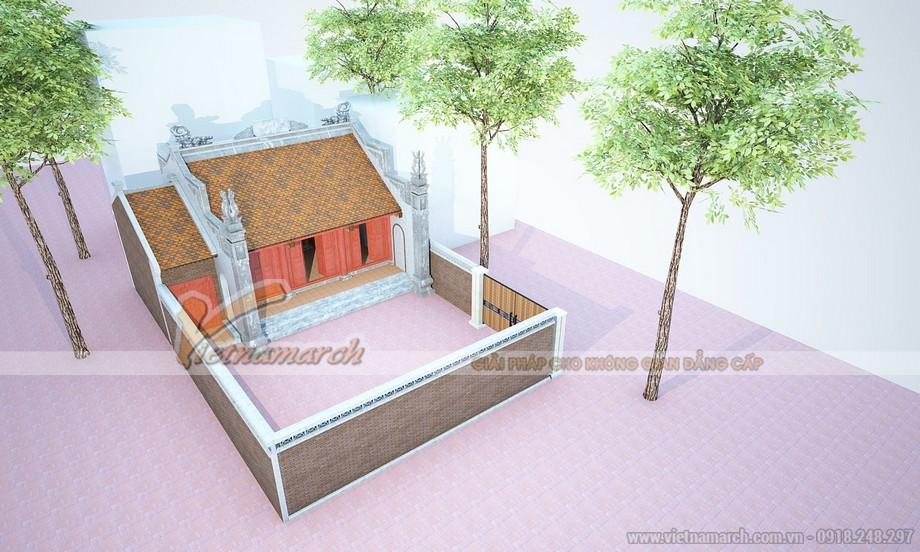 Mẫu nhà thờ họ chữ Đinh cho những diện tích đất nhỏ.
