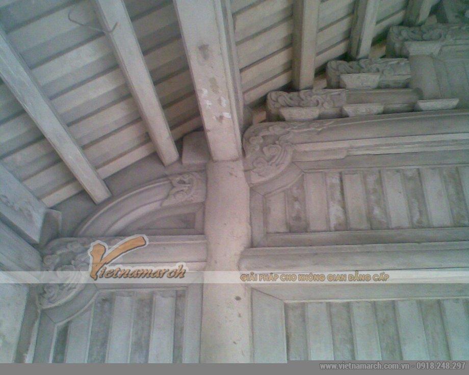 Thiết kế, thi công chùa bê tông giả gỗ ở Chùa Cao - xã Hồng SƠn - Huyện Mỹ Đức - Hà Nội-02