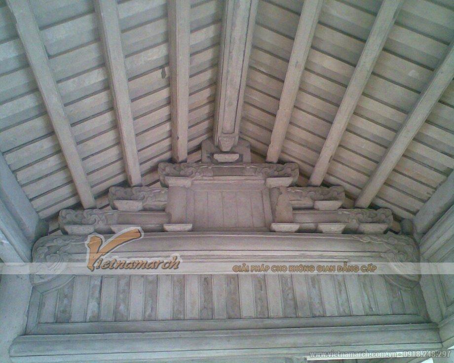 Thiết kế, thi công chùa bê tông giả gỗ ở Chùa Cao - xã Hồng SƠn - Huyện Mỹ Đức - Hà Nội-03