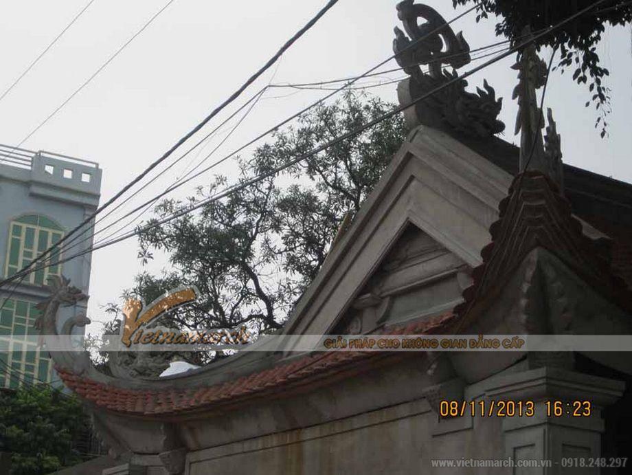 Thi công nhà thờ họ bằng bê tông giả gỗ bác Võ Huỳnh Sang- Kỳ Anh- Hà Tĩnh-01