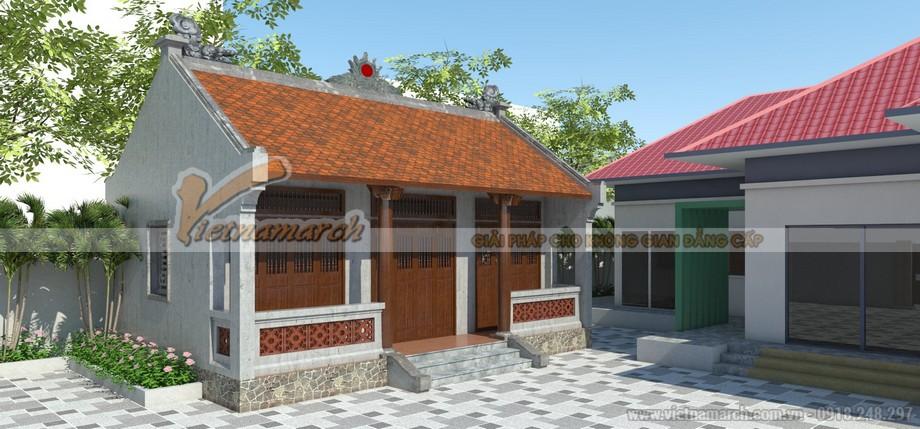 Phương án thiết kế cải tạo nhà thờ họ Thanh Chương - Nghệ An