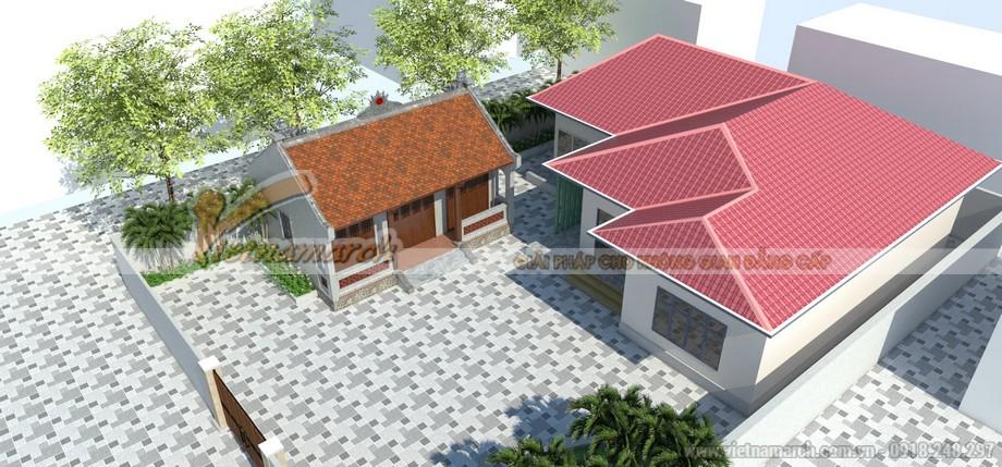Hồ sơ thiết kế nhà thờ họ 3 gian hai mái cải tạo từ nhà thờ họ cũ đã xuống cấp