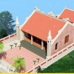 Thiết kế kiến trúc nhà thờ họ mặt bằng chữ nhị tại Tiền Hải – Thái Bình