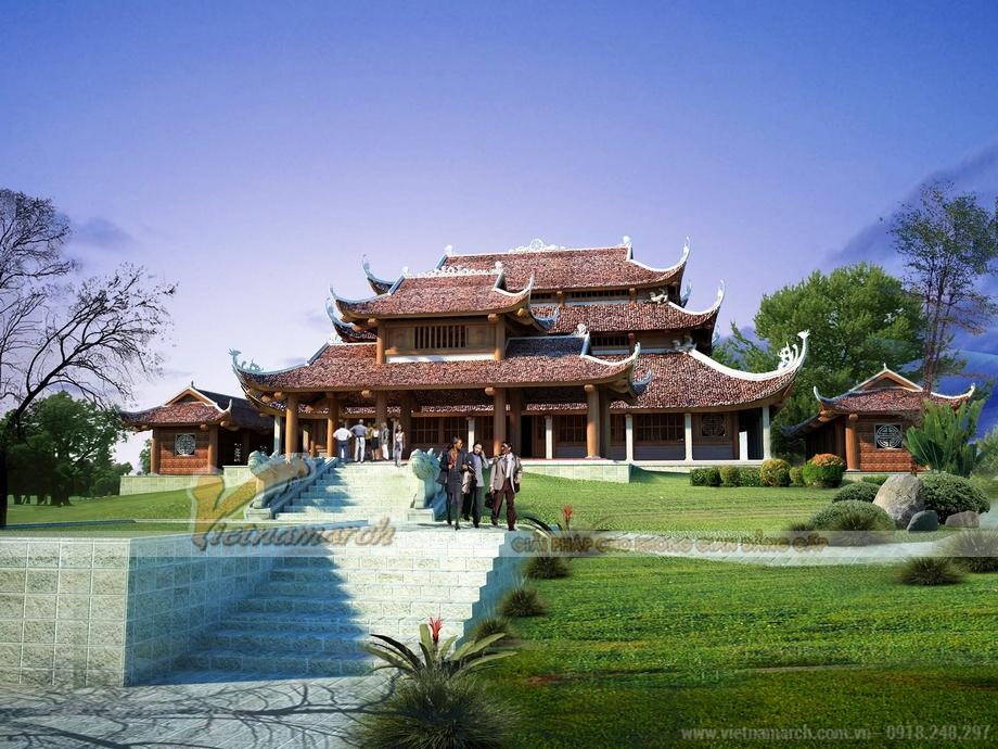 Thiết kế nhà thờ tổ lớn nhất tại Lục Lam - Bắc Giang