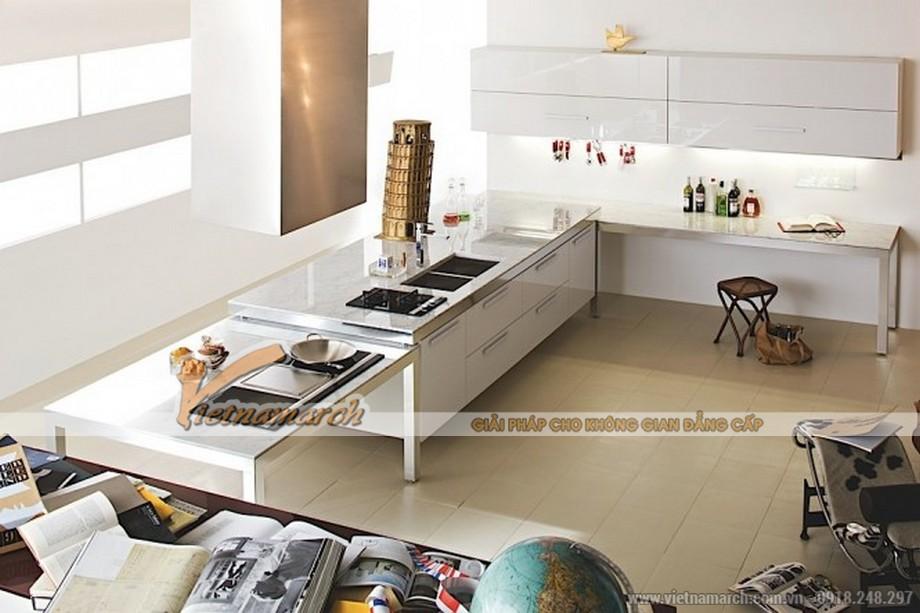 Tủ bếp cao cấp với thiết kế hiện đại cho căn hộ Penthouse