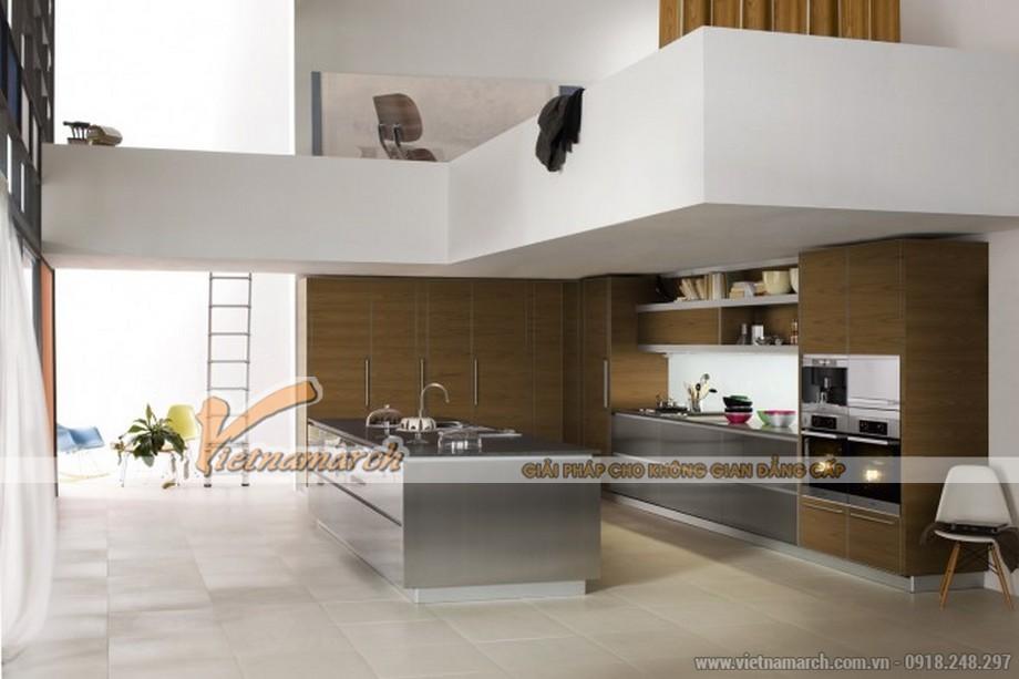 Mẫu tủ bếp đẹp với thiết kế thông minh, chất liệu cao cấp