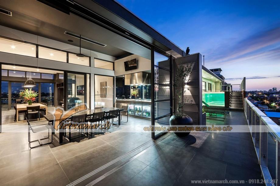 Hiện đại và không gian mở trong căn Penthouse