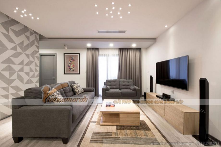 Thiết kế không gian phòng khách căn hộ Park Hill Times City