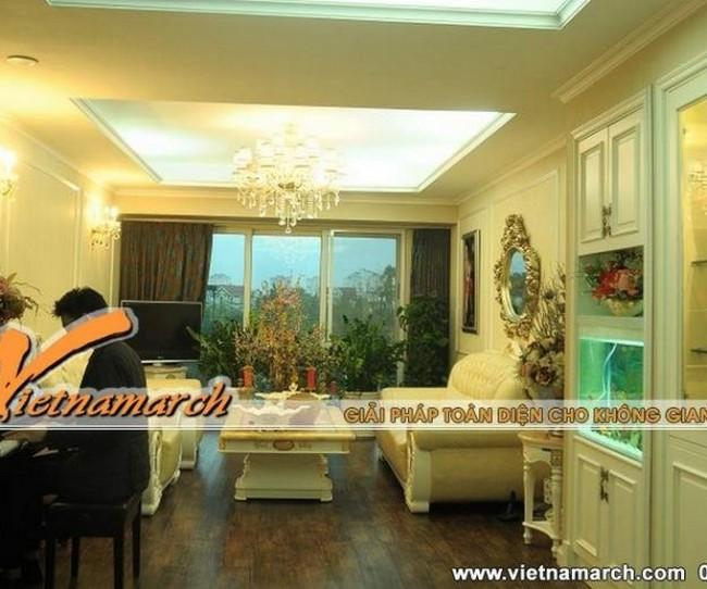 Sang trọng và đẳng cấp với thiết kế nội thất tân cổ điển cho nhà chị Giang khu đô thị Ciputra