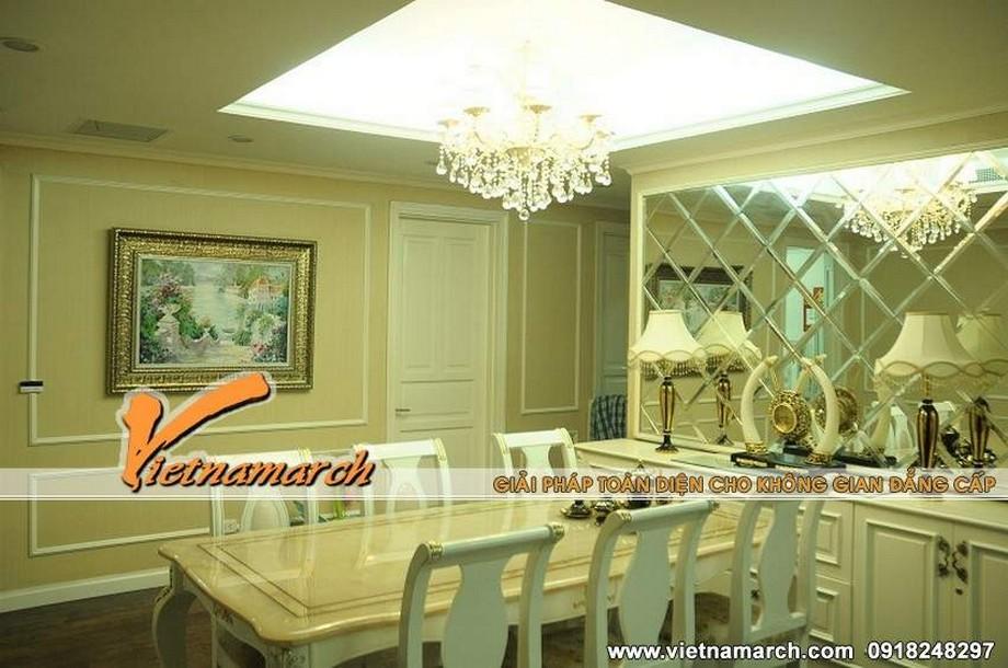 Lộng lẫy với lối thiết kế nội thất phòng ăn