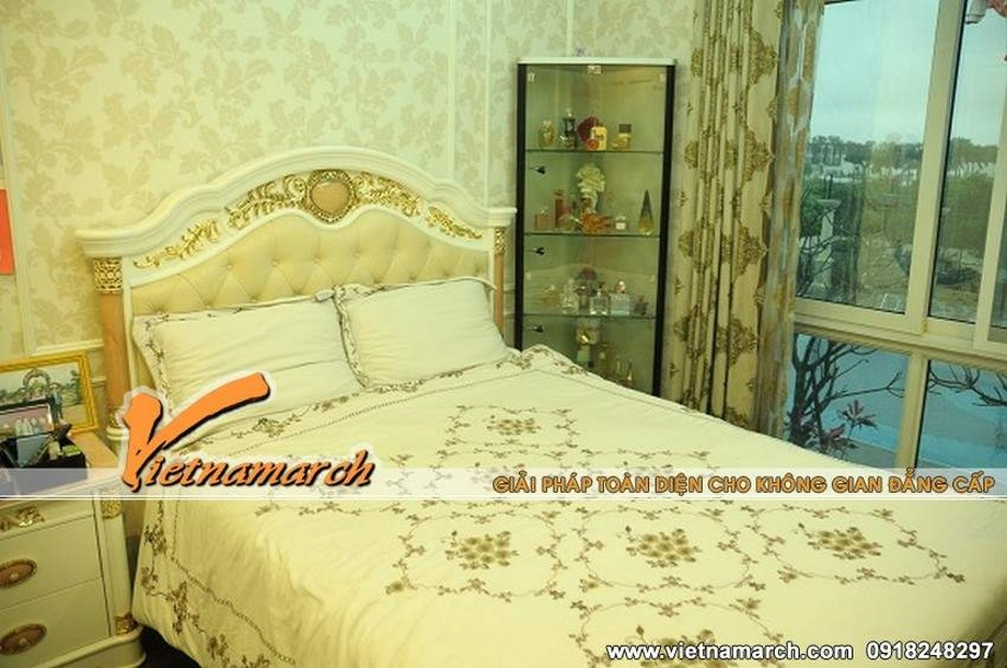 Mọi thứ đều hoàn hảo với phong cách cổ điển trong phòng ngủ sa hoa