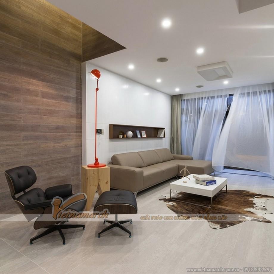 Thiết kế nội thất nhẹ nhàng trong phòng khách