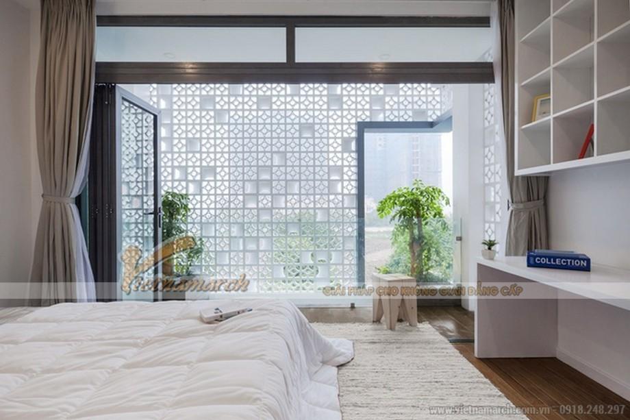 Tinh khôi trong thiết kế phòng ngủ thoáng mát
