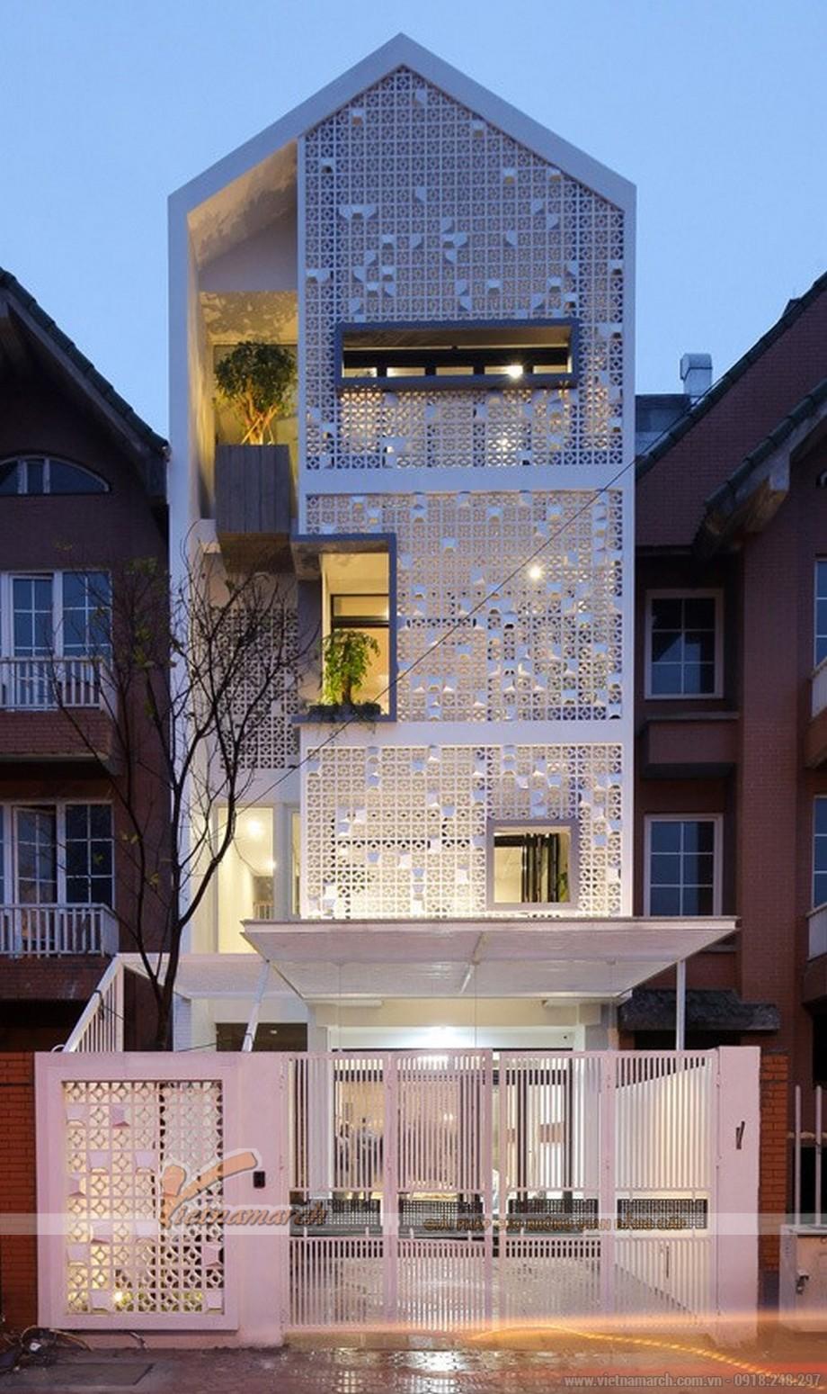 """Độc đáo với ý tưởng ngôi nhà """"tổ kén"""" thiết kế nhà mặt phố 4 tầng"""