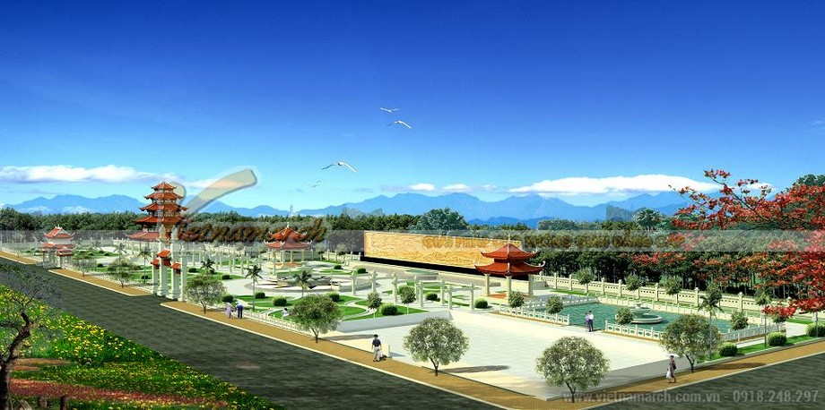 Bối cảnh tổng thể của quần thể Tháp Chuông ở tỉnh Hưng Yên