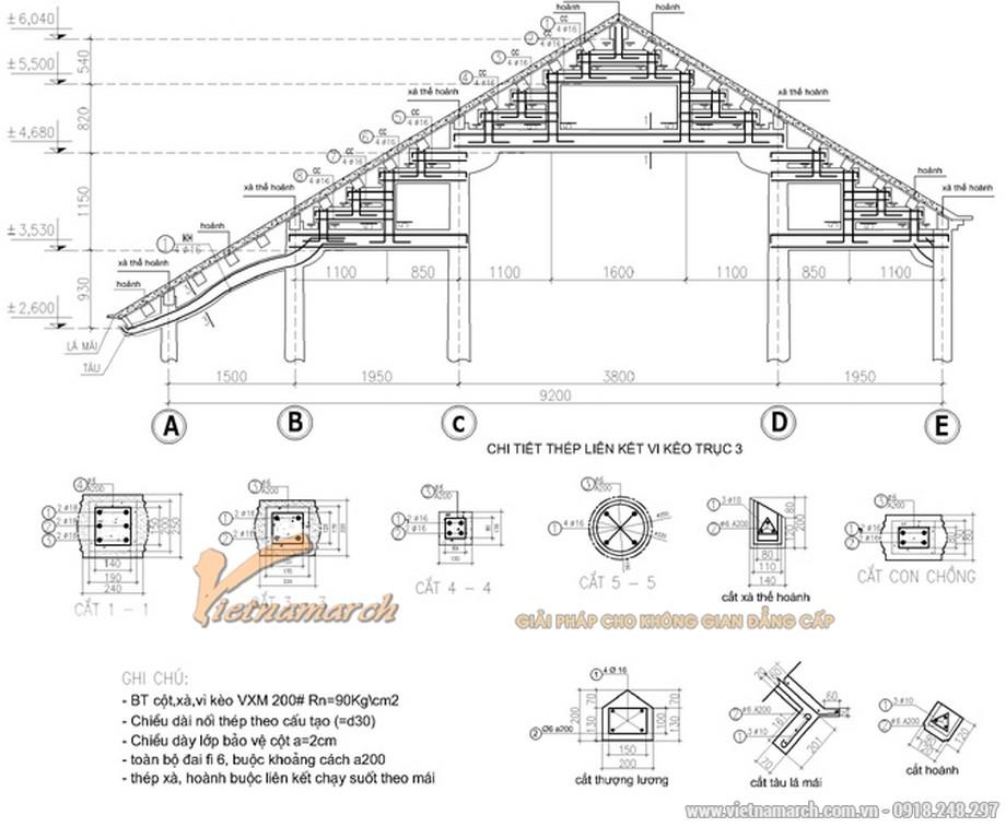 Thiết kế chi tiết kết cấu mái