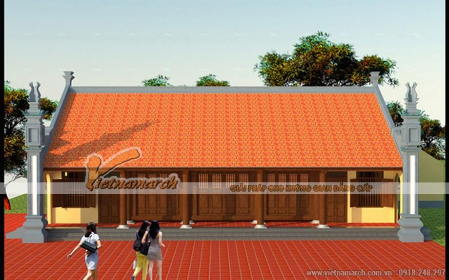 Thiết kế và thi công nhà thờ 5 gian họ Đặng tại Hải Hậu- Nam Định