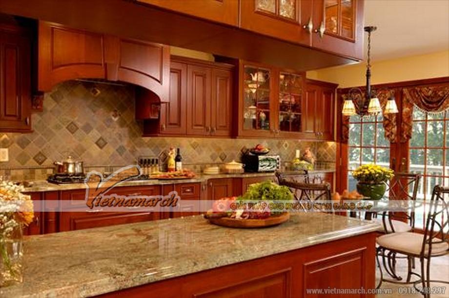 Tủ bếp gỗ tự nhiên - sự lựa chọn thân thiện cho nhà bếp gia đình