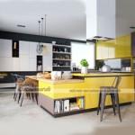 Thiết kế nội thất nhà bếp đẹp với hệ tủ bếp cao cấp tiện nghi cho nhà phố hiện đại