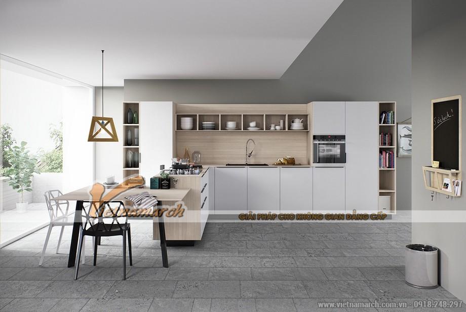 Tủ bếp thiết kế thông minh, tiện nghi cho nhà bếp hiện đại