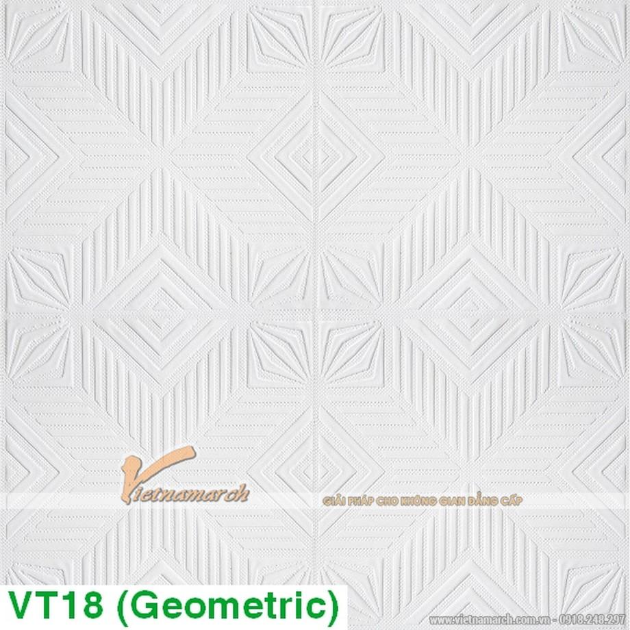 tấm thạch cao phủ nhựa PVC Geometric VT18