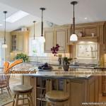 Mẫu thiết kế trần thạch cao hiện đại cho phòng bếp siêu đẹp 2016