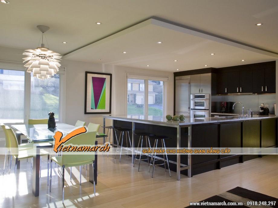 Mẫu thiết kế trần thạch cao cho phòng bếp siêu đẹp 2016-03