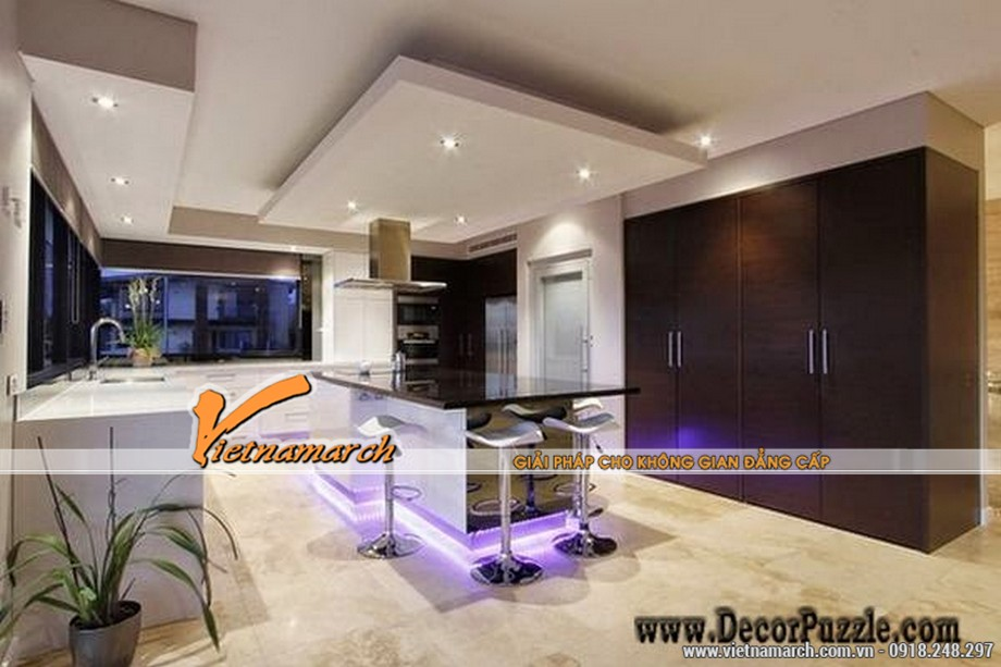 Mẫu thiết kế trần thạch cao cho phòng bếp siêu đẹp 2016 -04