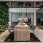 Thiết kế nội thất Penthouse Royal City ấn tượng với sắc xanh sức sống