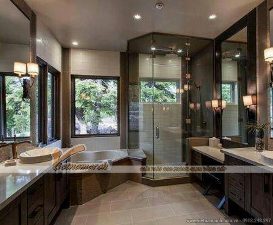 Thiết kế nội thất phòng tắm cho biệt thự 3 tầng