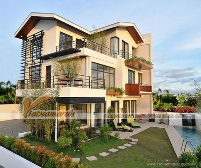 Biệt thự ba tầng, phong cách hiện đại tại Quảng Ninh