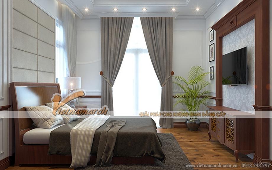 Thiết kế nội thất phòng ngủ ông nội cho biệt thự 3 tằng, phong cách cổ điển