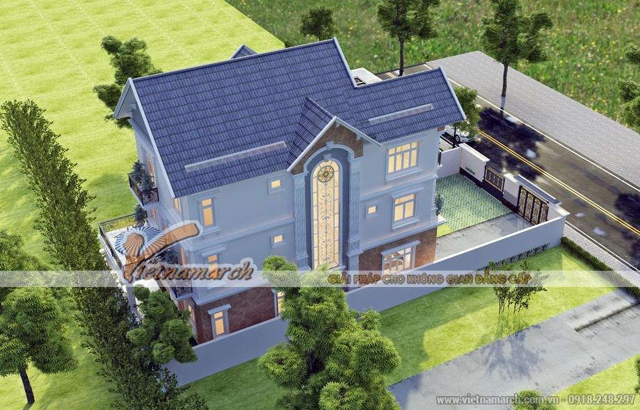 Thiết kế biệt thự 3 tầng, phong cách tân cổ điển