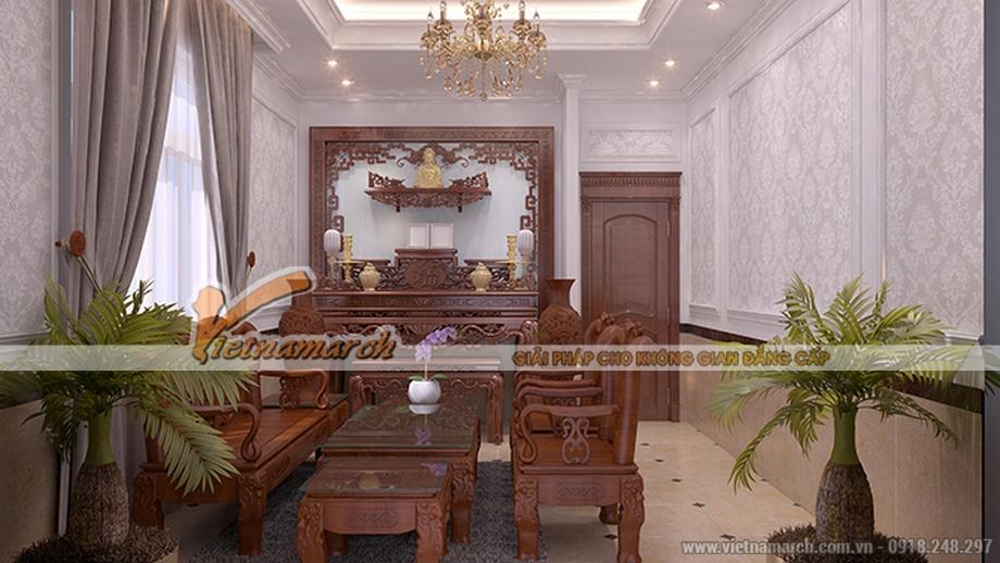 Thiết kế nội thất phòng khách cho biệt thự 3 tầng, phong cách tân cổ điển