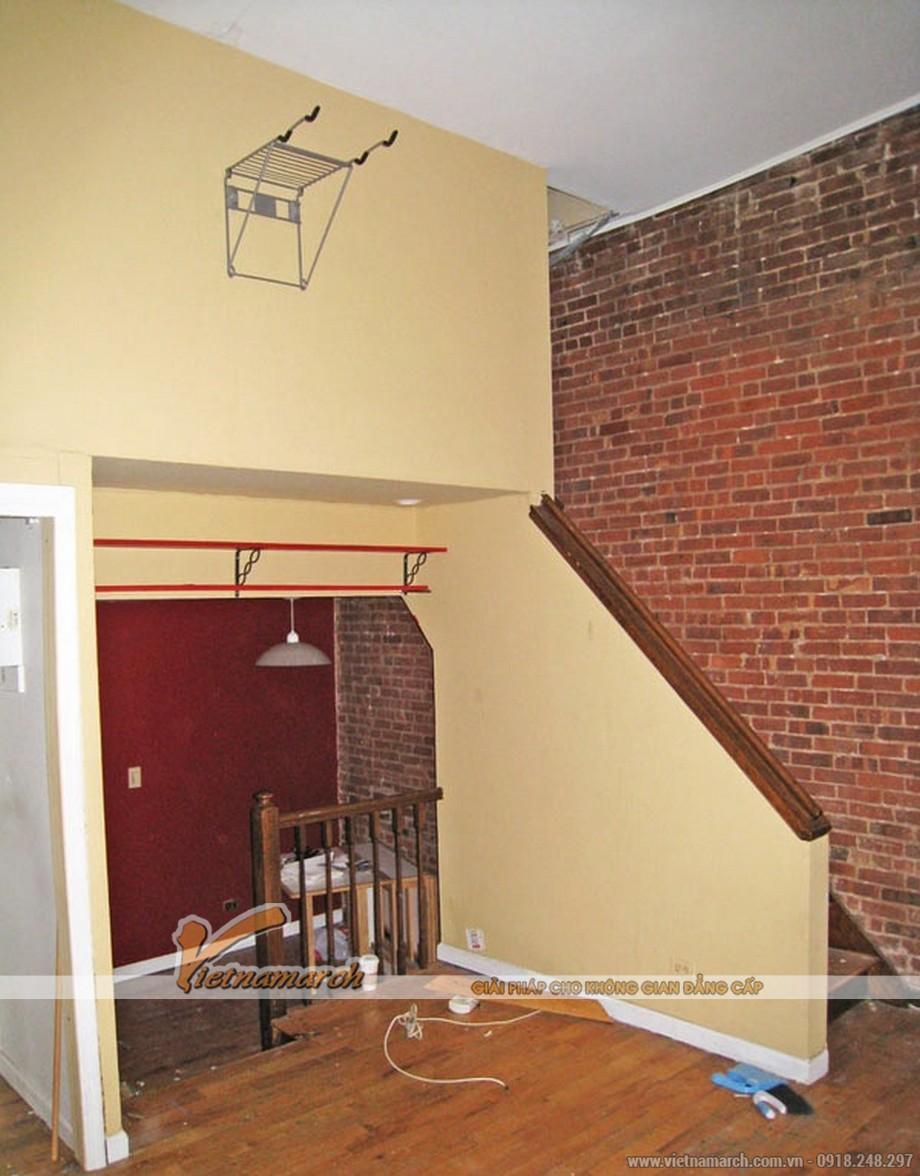 Trước khi được KTS thiết kế lại căn hộ chông khá bí bách do diện tích nhỏ hẹp